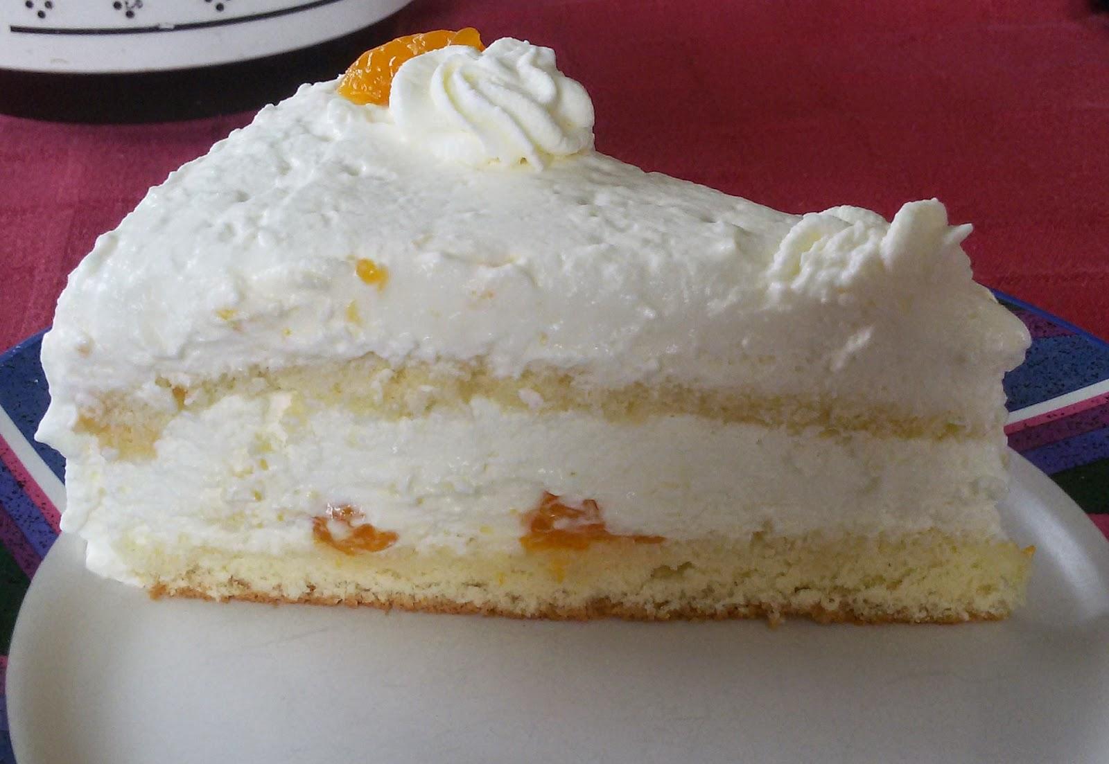 Beautylala Mandarinen Quark Sahne Torte