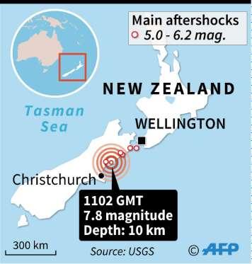 Tsunami hits New Zealand after series of strong quakes