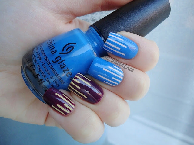 Silvia Lace Nails: Color blocking with tape