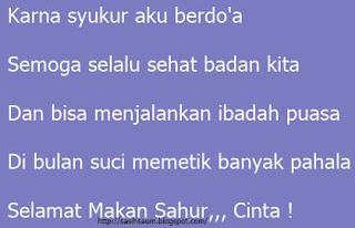 Pantun Sahur Romantis