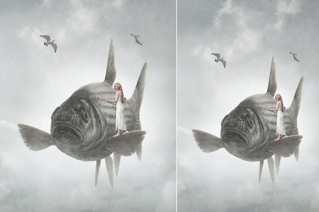 Fish ride - Photo Manipulation Tutorial