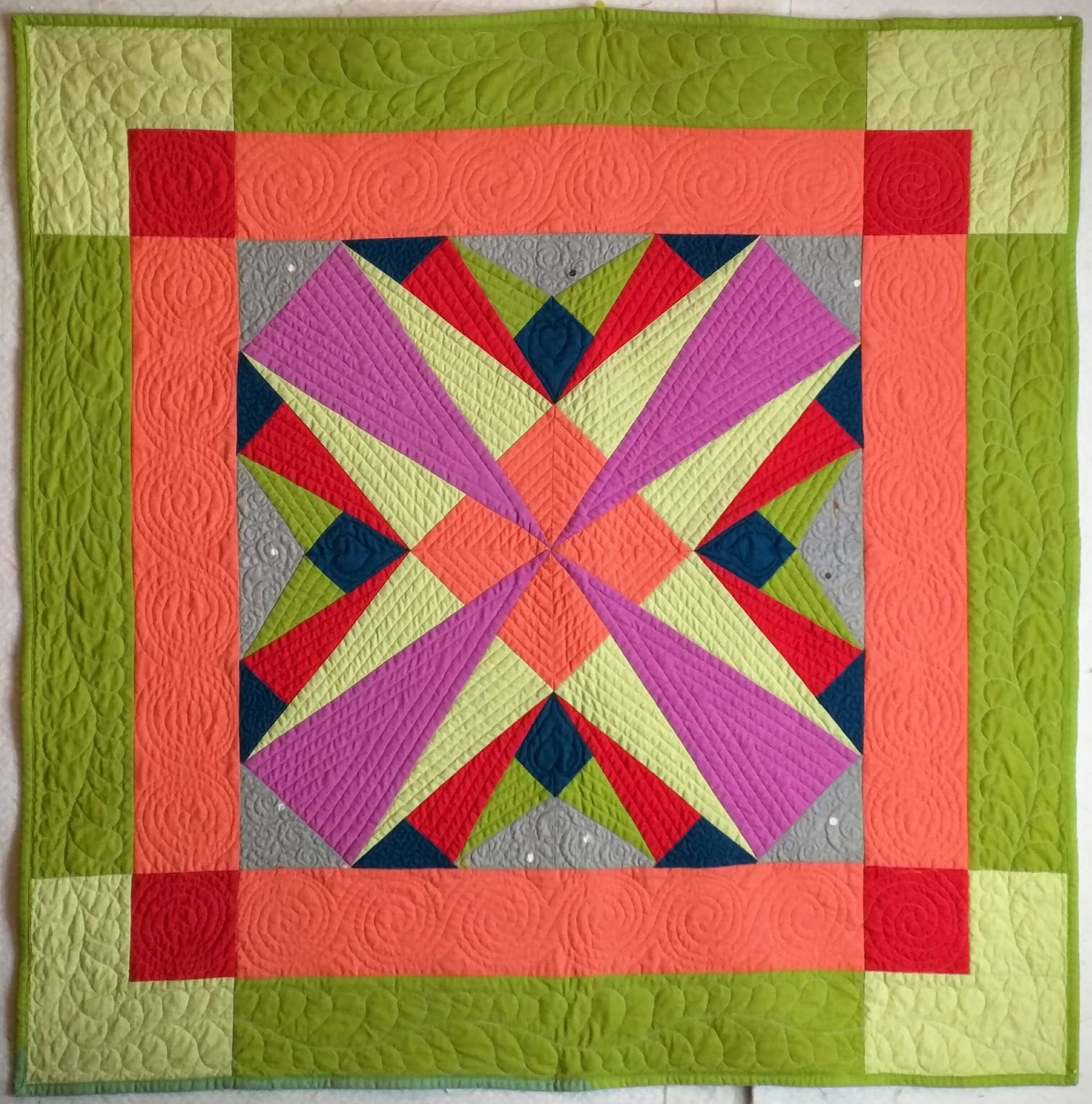 Fret Not Yourself: Folded Star Quilt Finished - photo#7