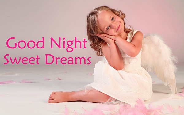 Good Night Sweet Dreams Baby Girl Image for Whatsapp & Facebook