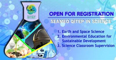 ada 4 jenis course training (diklat) yang akan diselenggarakan SEAMEO QITEP In Science pada tahun 2016 ini dan masih ada kesempatan untuk mendaftar. Adapun ke-empat macam diklat internasional gratis + akomodasi + transport (yang juga disediakan panitia ini)