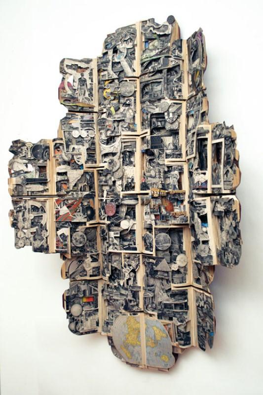 Скульптуры из книг. Brian Dettmer 18