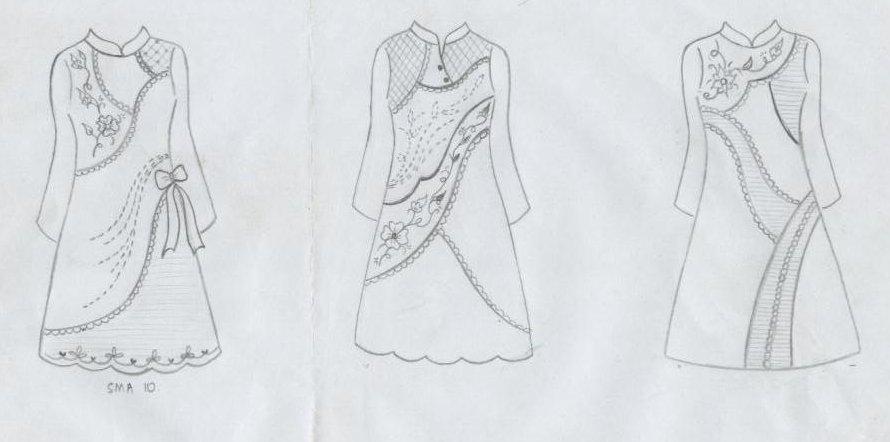 Model Desain Baju Batik Wanita 2017 Stephidee Com