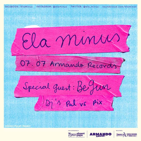 Ela-Minus-Armando-Records