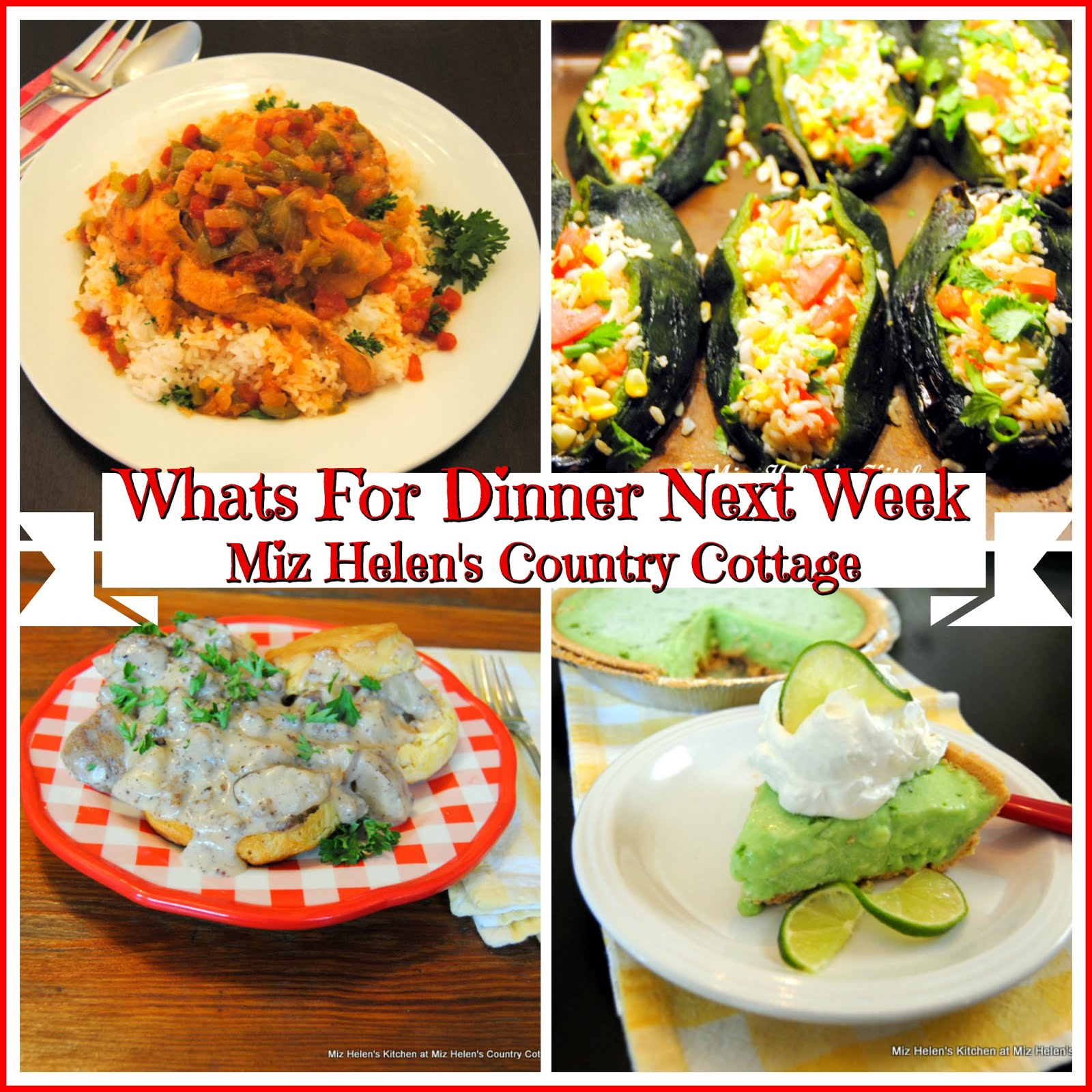 Whats For Dinner Next Week * Week of 8-18-19