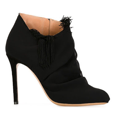 maison margiela lack tassel detail ankle boots