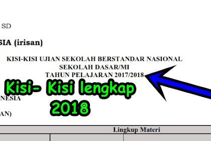 Kumpulan Kisi- Kisi UASBN dan UN untuk SD,SMP, SMA,SMK Tahun Ajaran 2017/2018 Lengkap