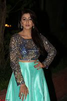 Nikki Galrani in Green Skirt  Top at Marakathamani music launch ~  Exclusive (14).JPG