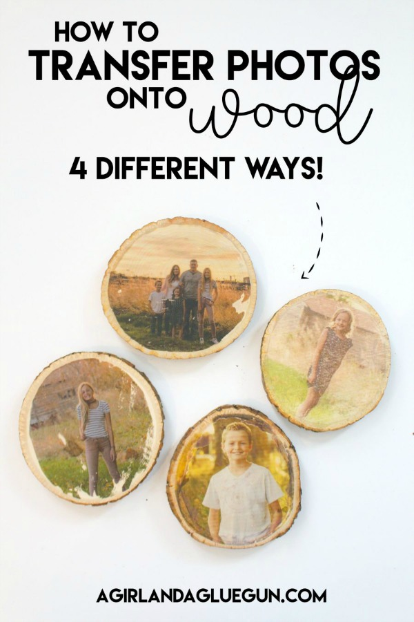 transferring photos onto wood, displaying photos
