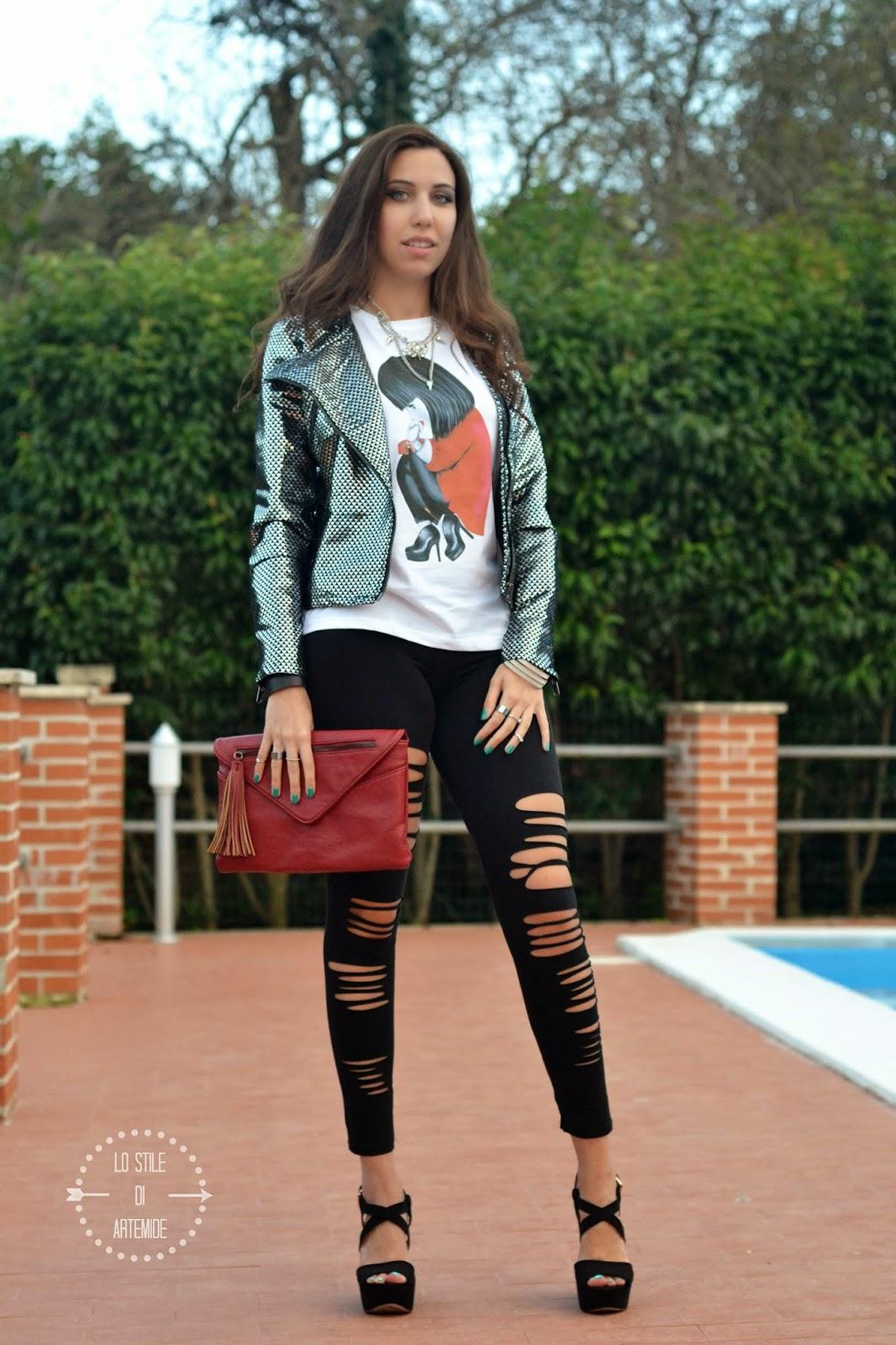giacca di lurex