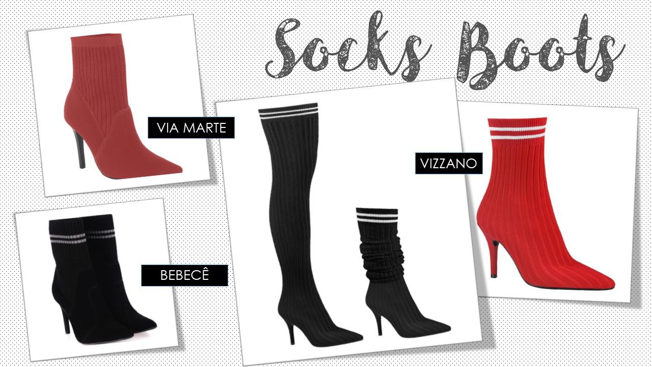 Botas Meia /Socks Boots- TENDÊNCIAS DE BOTAS PARA O INVERNO 2018