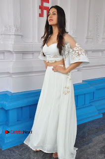 Telugu Actress Amyra Dastur Stills in White Skirt and Blouse at Anandi Indira Production LLP Production no 1 Opening 0013