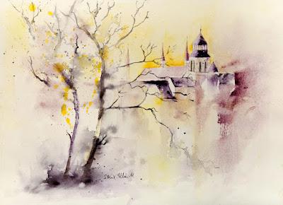 Fontevraud watercolor