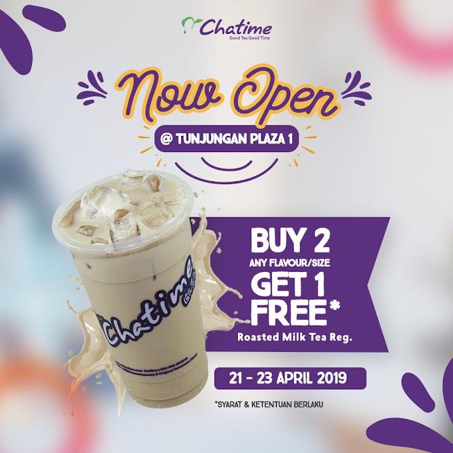 #Chatime - #Promo Opening di Tunjungan Plaza & Dapatkan BUY 2 GET 1 FREE (s.d 23 April 2019)