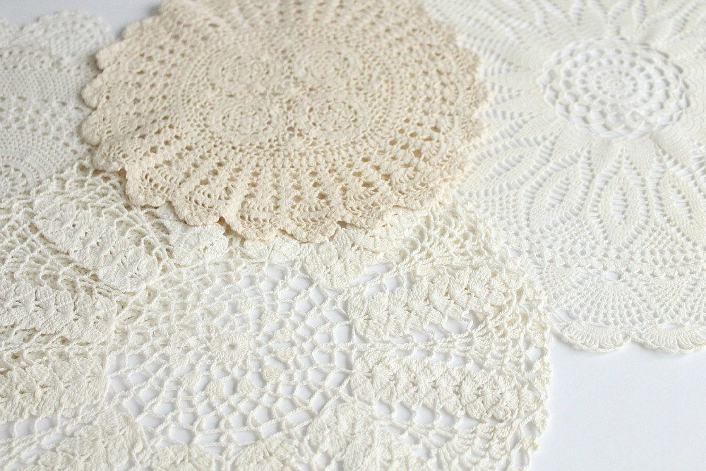 Projects with vintage doilies
