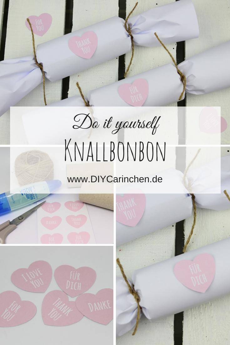 DIY Knallbonbons als tolle Geschenkidee ganz einfach selbermachen (+ kostenlose Vorlage)