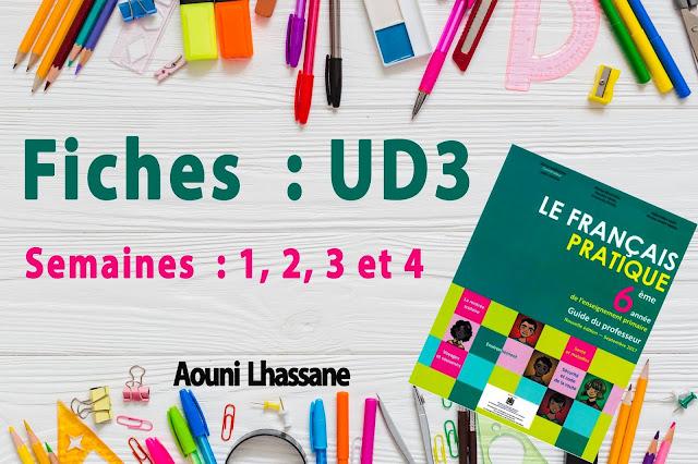 Fiches Français pratique 6aep UD 1,2,3 semestre1 en word et pdf