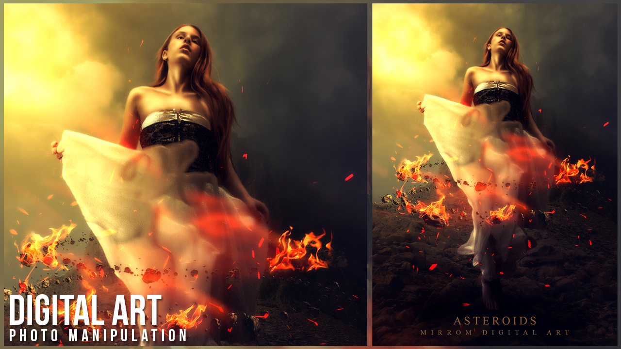 Asteroids Portrait Photo Manipulation In Photoshop
