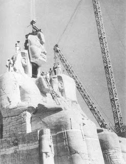 Abu Simbel, the Great Temple, chopping giant statues