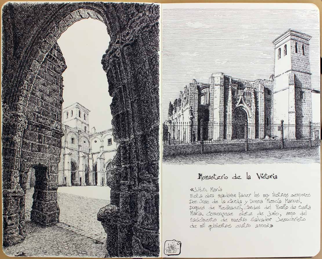 05-Monastery-Port-of-Santa-Maria-Cádiz-Luis-Gómez-Feliu-Elucubros-Urban-Sketches-and-Interior-Architectural-Drawings-www-designstack-co