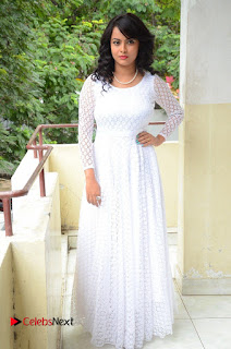 Athidhi D Pictures in White Long Dress at Attarillu Audio Launch ~ Celebs Next