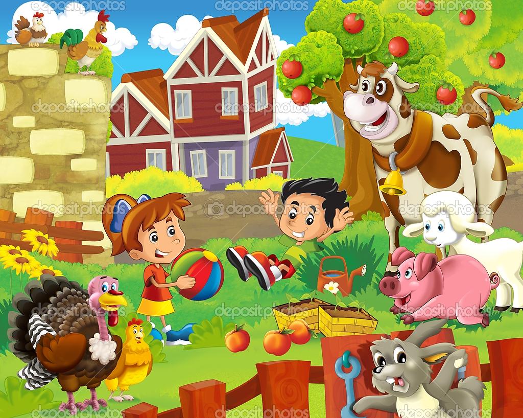 Animales de la granja qu es una granja y un granjero for Como hacer una granja de peces