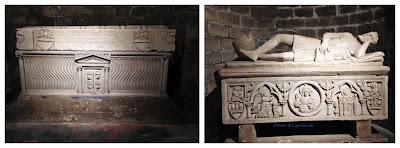 Sarcofago strigilato romano riusato nel medioevo, sarcofago di Federico in stile medievale