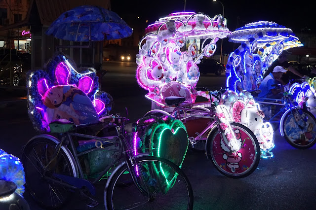 Malacca Jonker Street Night Market - Colourful Rickshaws