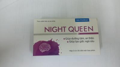 Viên an thần gây ngủ Night queen của dược Hậu Giang
