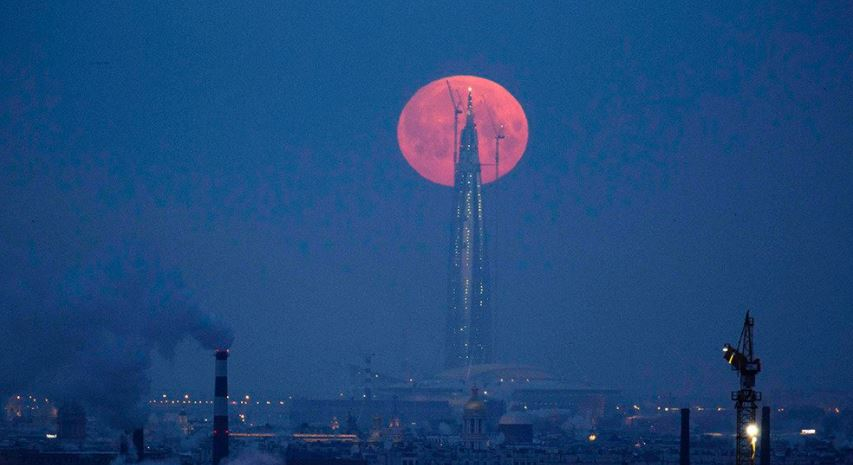 Stunning photos of the rare 'super blue blood moon' 2018