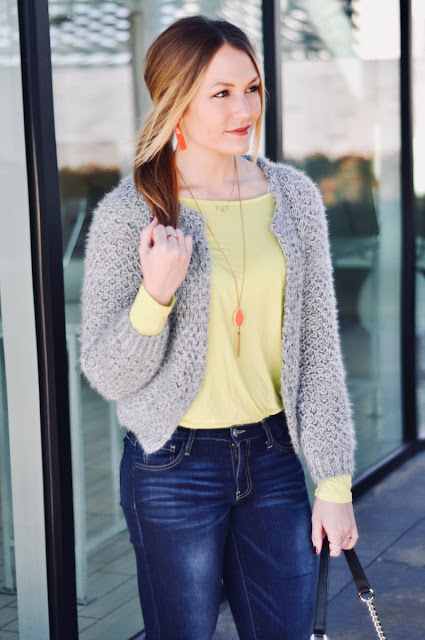 how to wear bright colors in winter