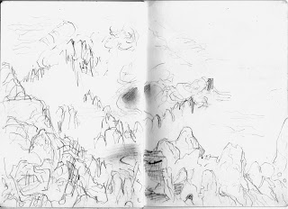 Baggy Point Jill Evans 2012 pencil on sketch book