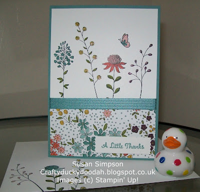 Stampin' Up! UK Independent Demonstrator Susan Simpson, Craftyduckydoodah!, Review of 2016 Part I, Flowering Fields, Supplies available 24/7,
