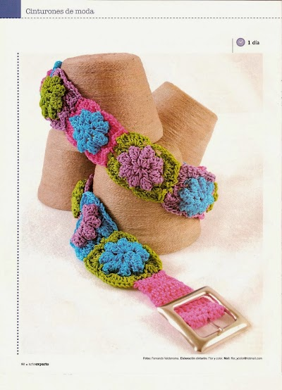 Cinturon Crochet de Flores