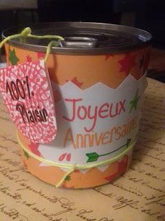 Cadeau DIY: une boîte de conserve à bonbons !