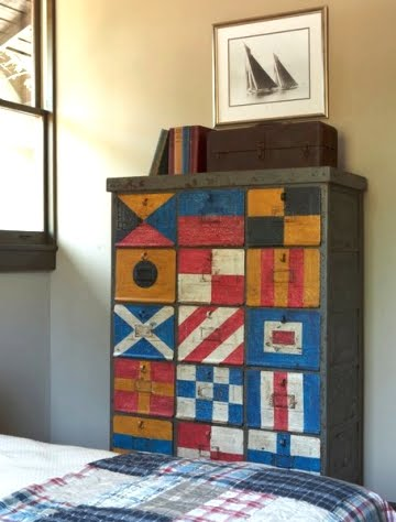 nautical flag chest