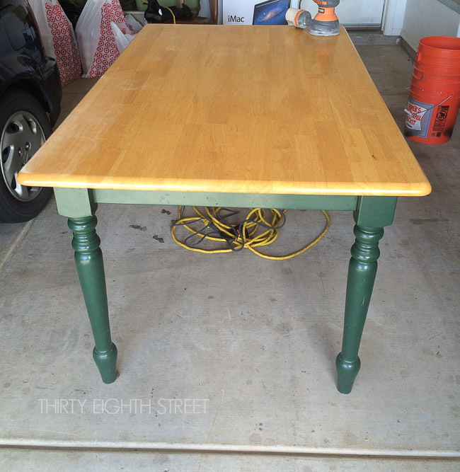 Farm Table Before and After, Make A Desk from a table, general finishes chalk style paint, space saving desk ideas