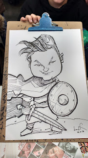 caricature of viking