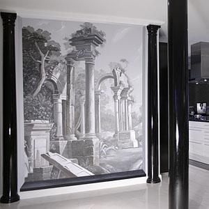 Wandmalerei und Illusionsmalerei im Wohnraum