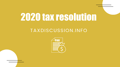2020 tax resolution