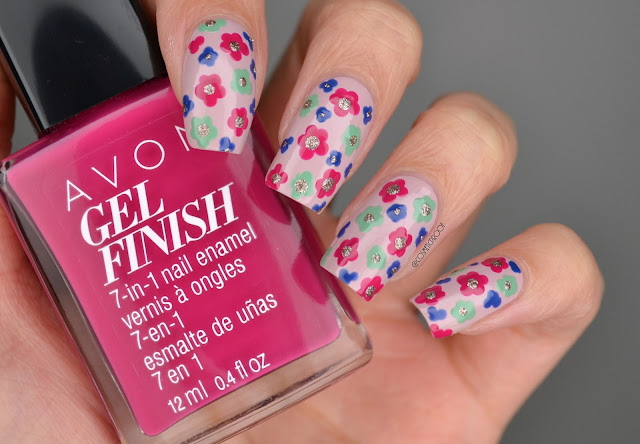 Avon Gel Finish  Flower Dotticure