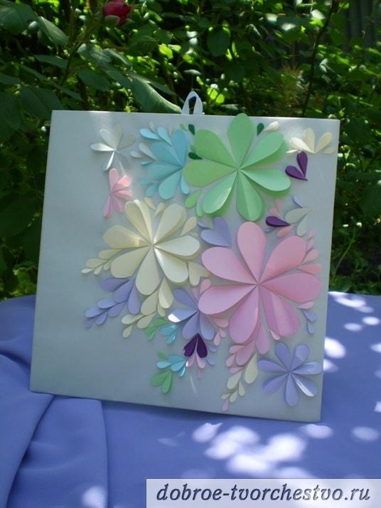 красивая открытка с цветами своими руками из бумаги и картона мастер класс
