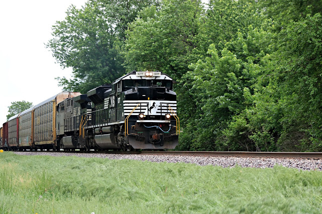 May 20, 208 Watching a train travel past the house,