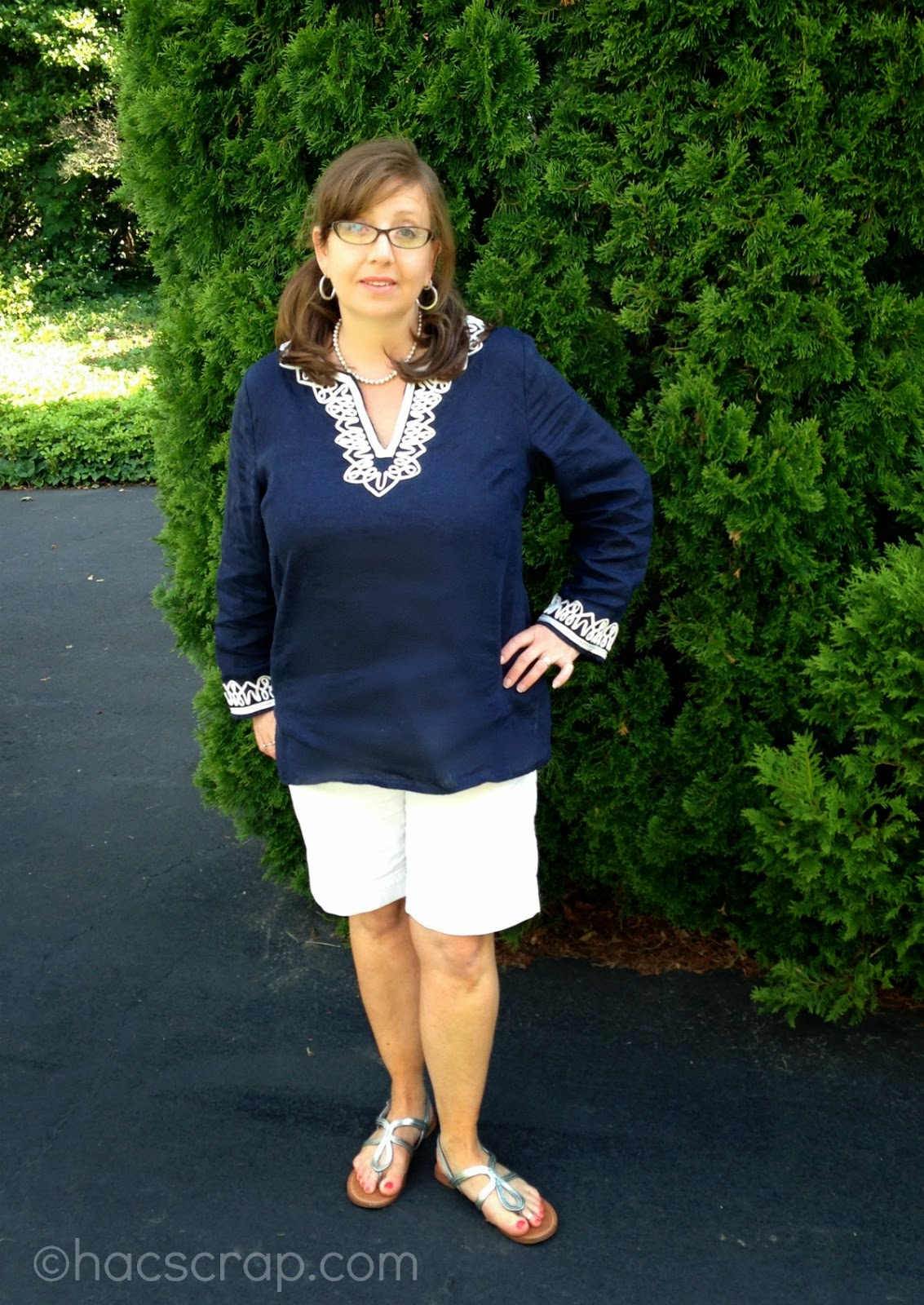 My Scraps | Mid-Life Mom Style - White Shorts