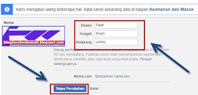 bagaimana cara mengubah nama akun di FB di laptop