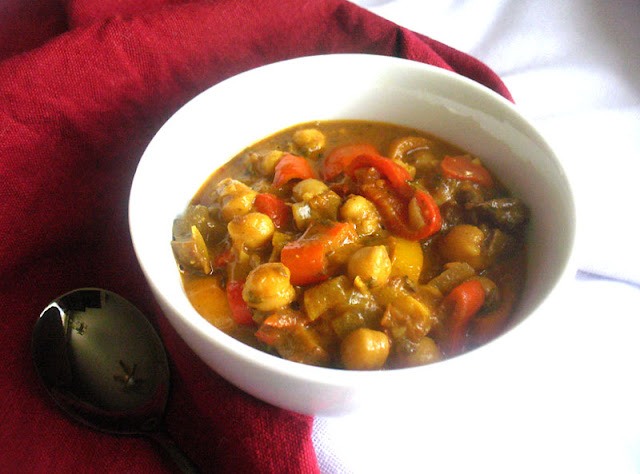 Chickpea and Portobello Mushroom Curry