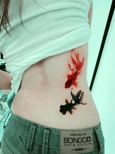 Peixes pequenos Desenhos de Tatuagem para menina